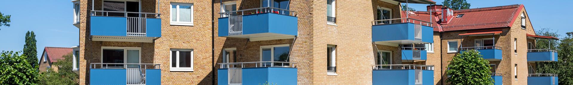 Lägenheter med balkonger