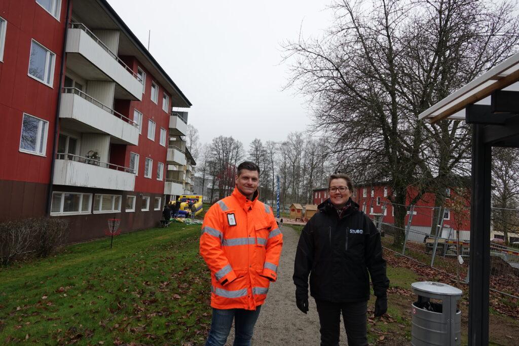 VD Erica Waller och Christian Johansson, Platschef på PEAB