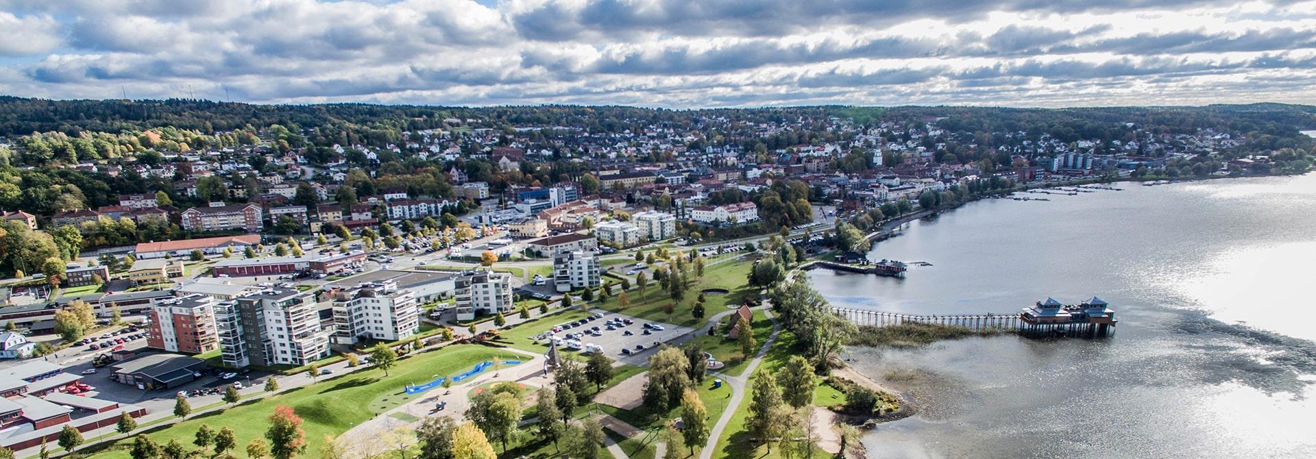 Utsiktsvy över Ulricehamn